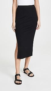 Edition10 Рубчатая юбка с разрезом