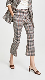 Edition10 Plaid Cropped Flare Pants