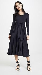 Edition10 Миди-платье с овальным вырезом