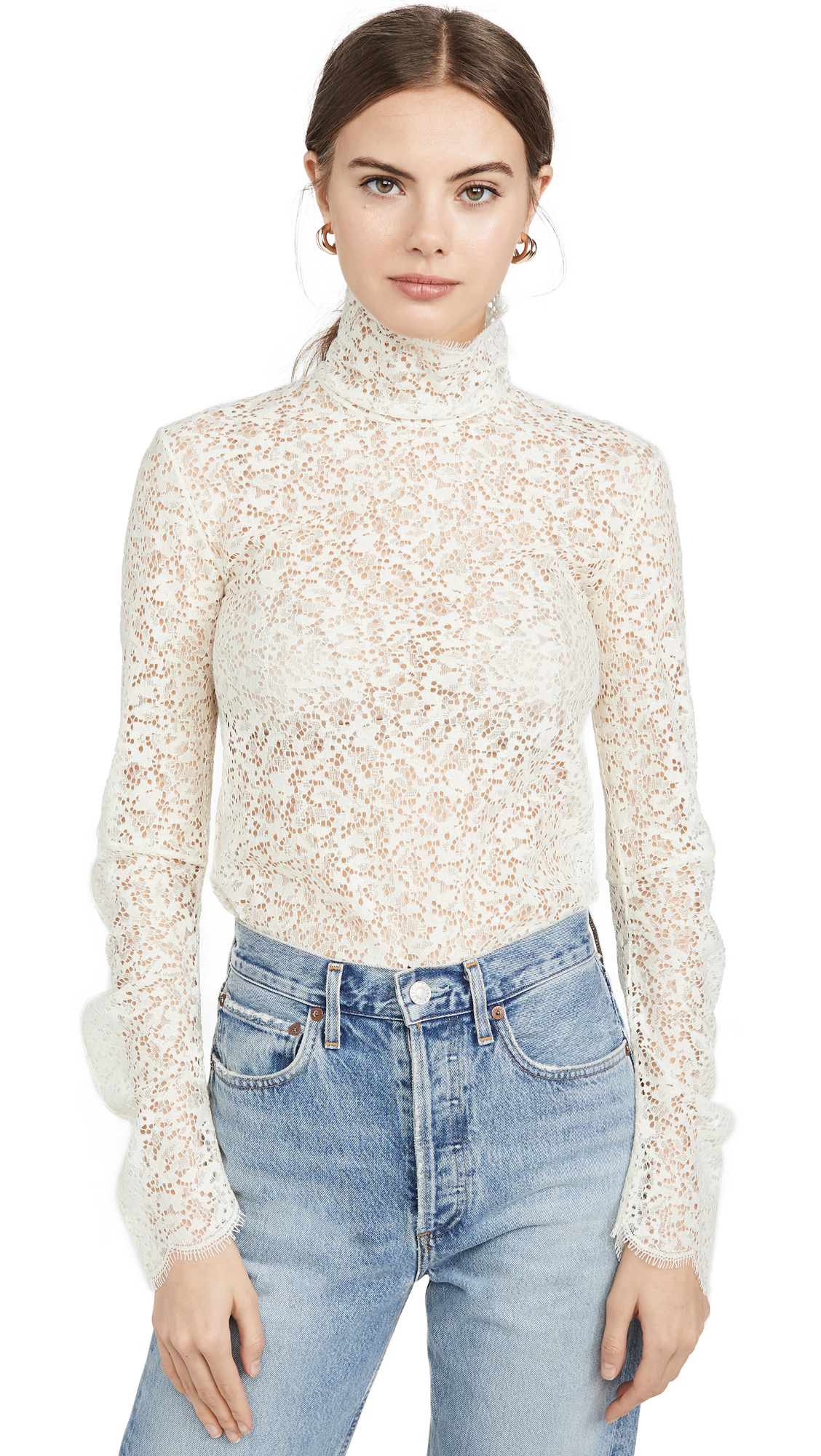 Buy Edition10 online - photo of Edition10 Lace High Neck Blouse