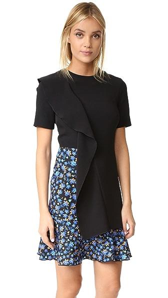 EDIT Asymmetric Sculptured Frill Mini Dress