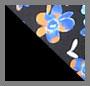 Black/Blue Floral Print
