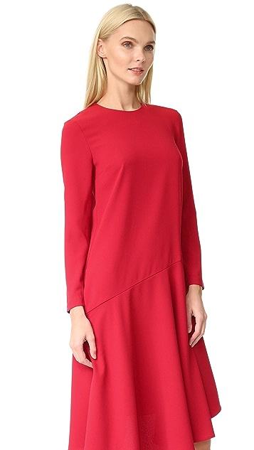 EDIT Asymmetrical Midi Dress