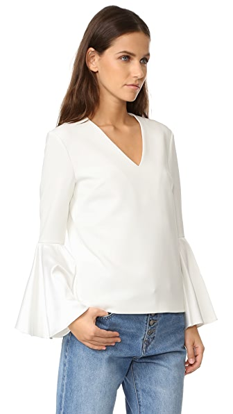 EDIT V Neck Flute Top