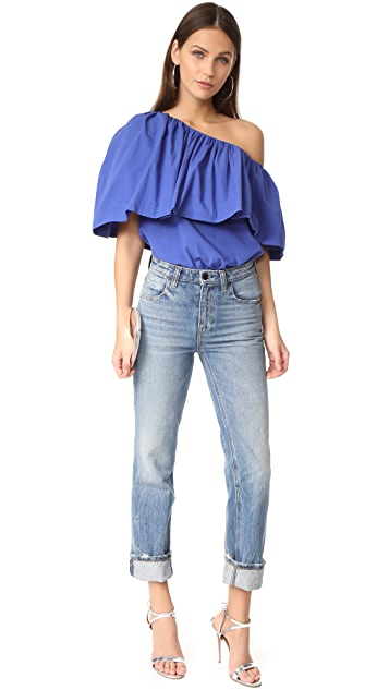 EDIT One Shoulder Ruffle Top