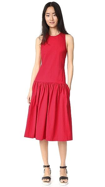 EDIT Open Back Sun Dress In Red