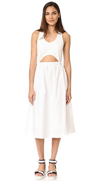 EDIT Cutout Top Dress In White