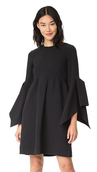 EDIT Box Pleat Easy Dress In Black