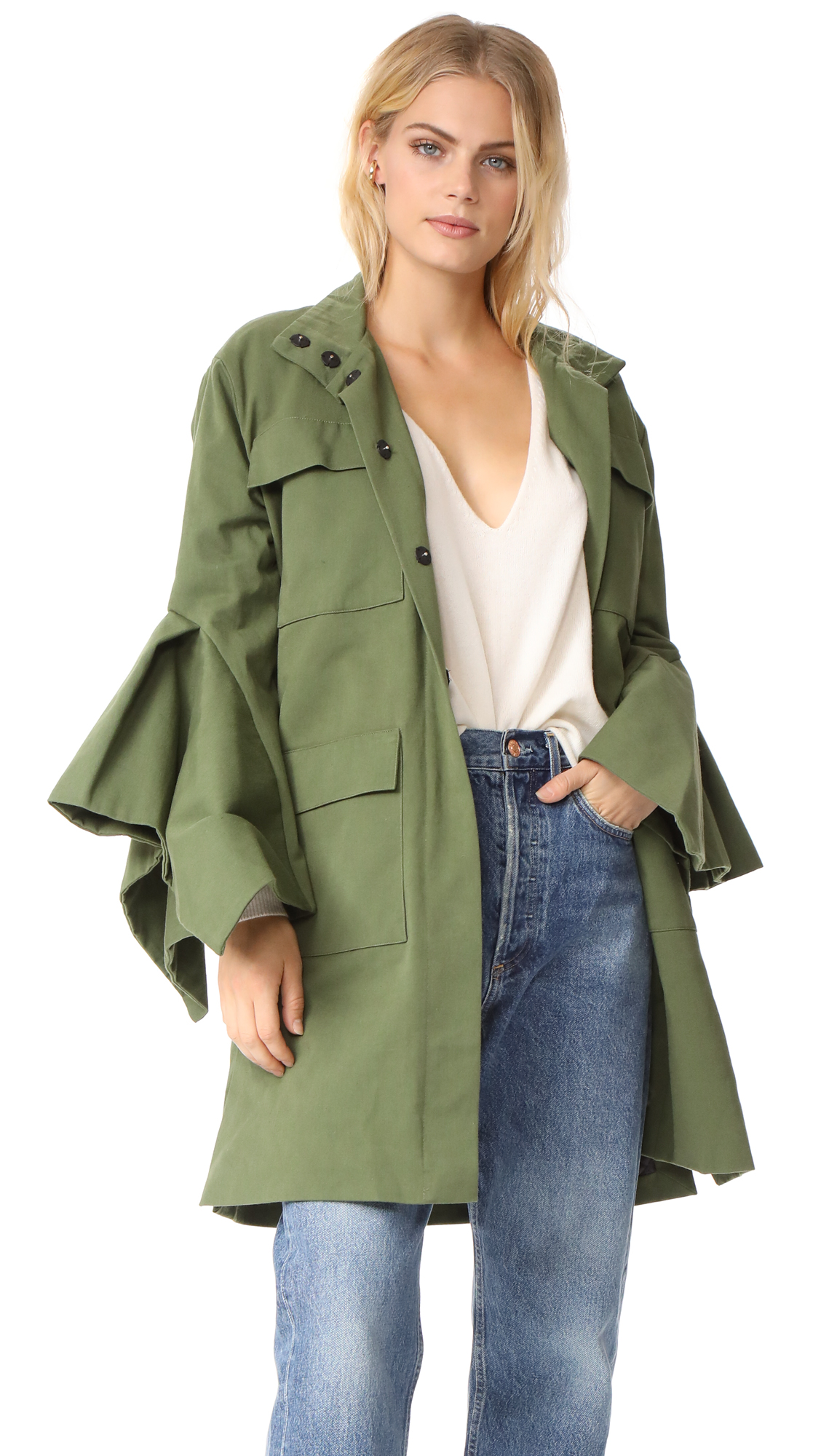 EDIT Cargo Coat - Army Green