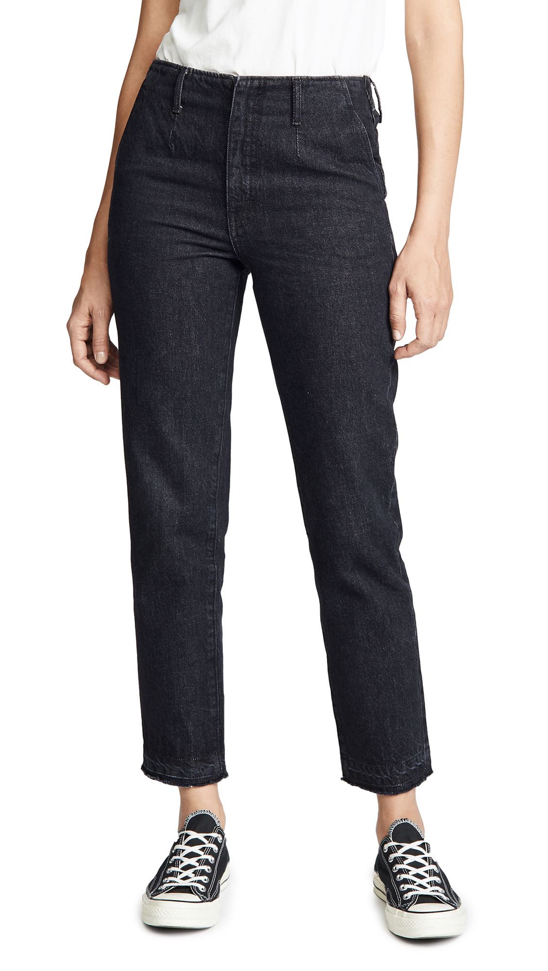 HIGH RISE STRAIGHT TROUSER JEANS
