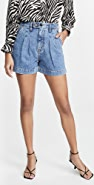 ei8htdreams Reese Pleated Denim Shorts