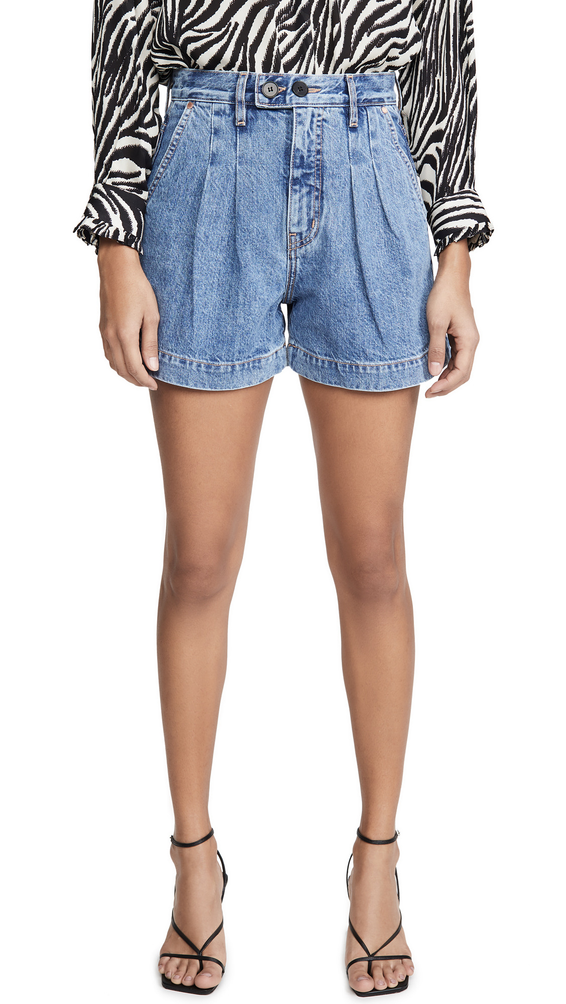 Buy ei8htdreams online - photo of ei8htdreams Reese Pleated Denim Shorts
