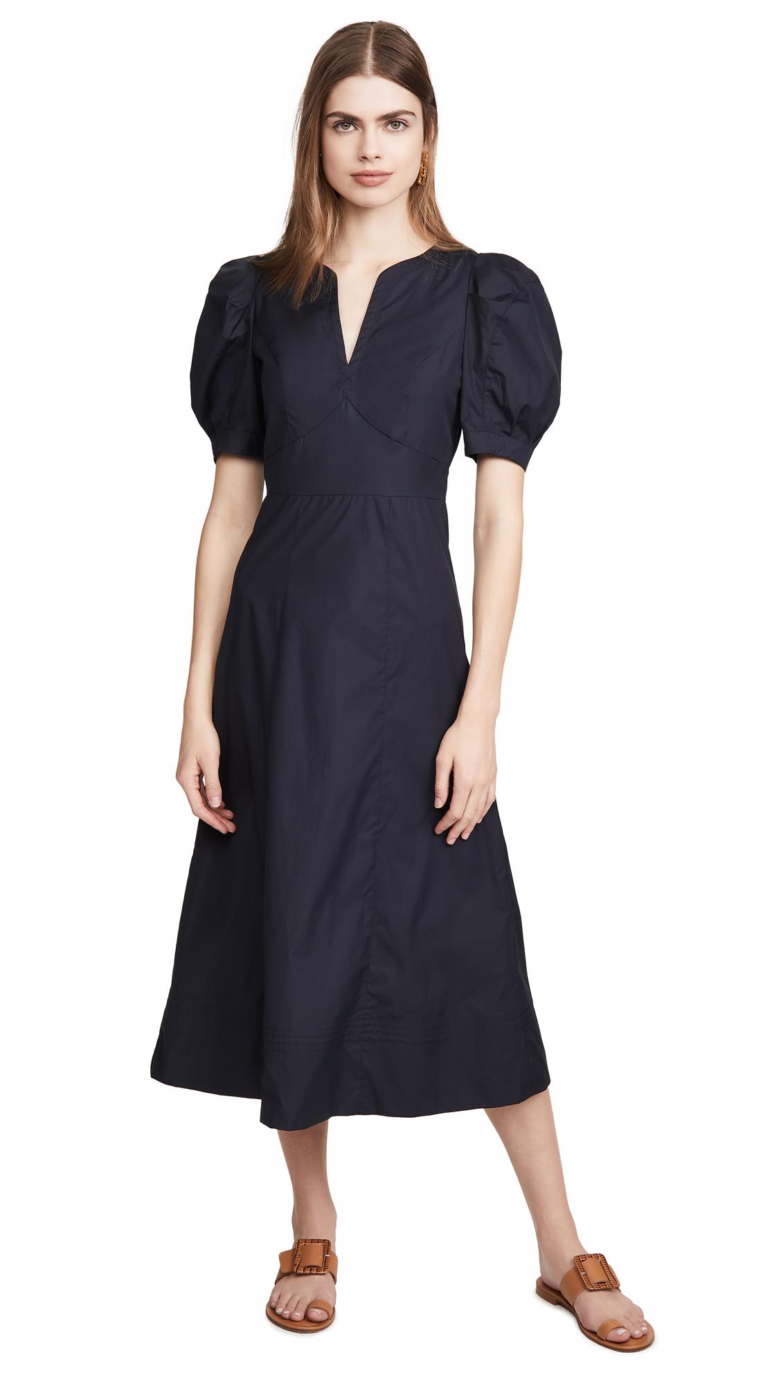 Buy ei8htdreams Carlie Puff Sleeve Poplin Midi Dress online beautiful ei8htdreams Clothing, Dresses