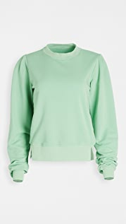 ei8htdreams French Terry Pleated Sweatshirt
