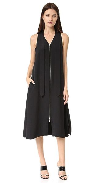 EDUN Шелковое платье с завязками на горловине