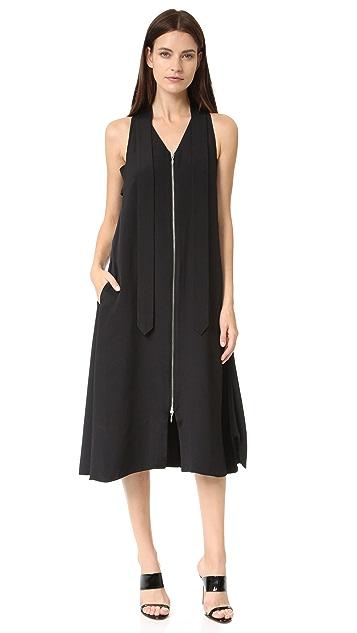 EDUN Silk Neck Tie Dress