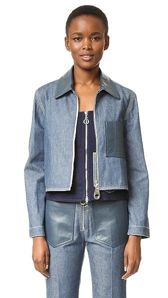 Edun Denim Cropped Jacket - Cobalt at Shopbop