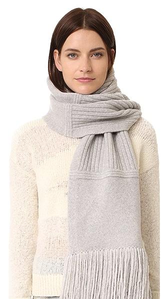 Edun Plush Wool Chunk Scarf - Heather Grey at Shopbop