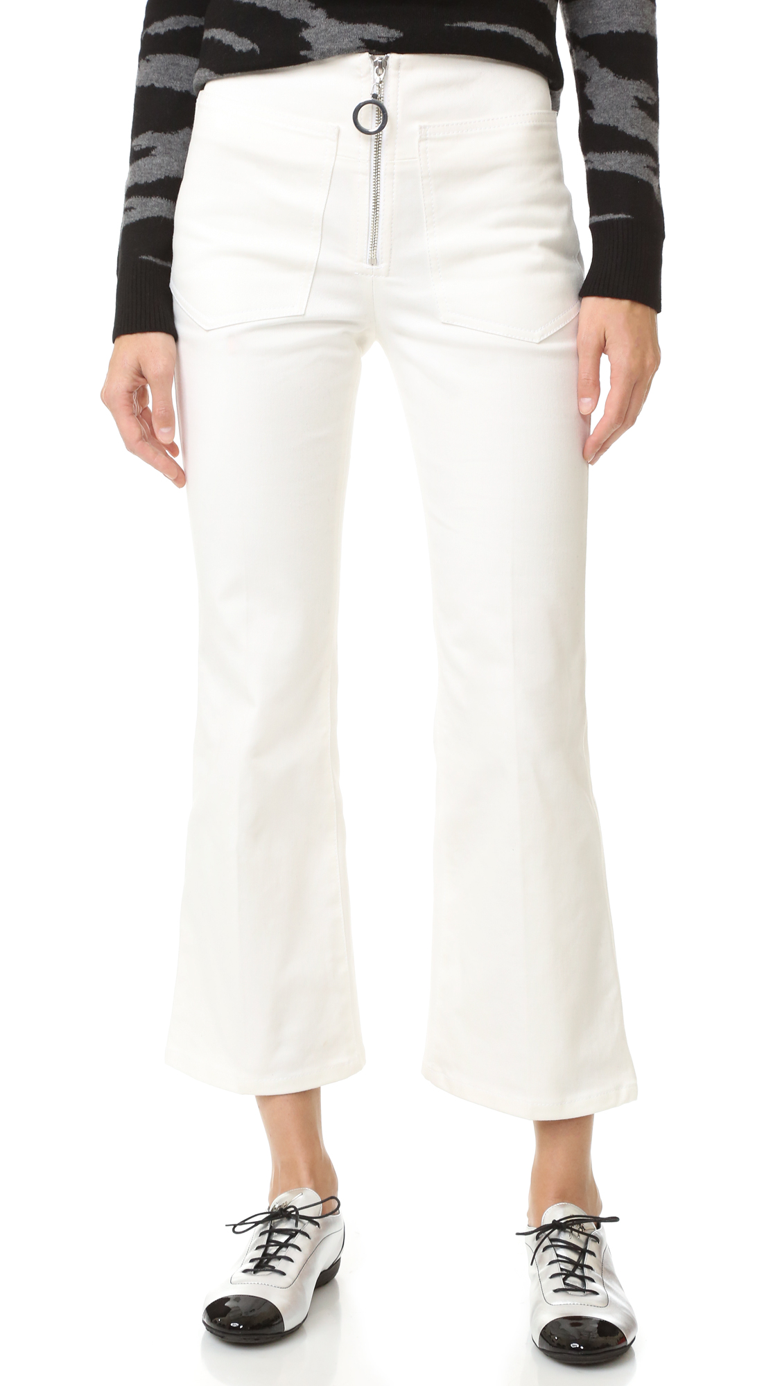 Edun Denim Flares - White at Shopbop