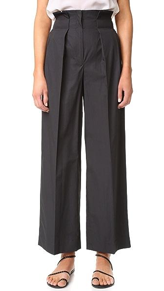 Edun Poplin Paperbag Pants - Black at Shopbop