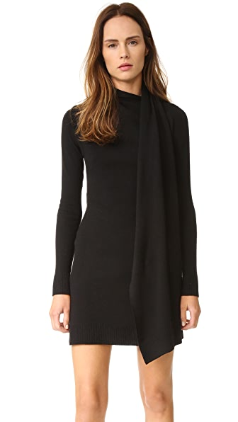 Edun Draped Wool Wrap Dress - Black