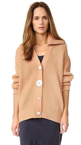 Edun Merino Wool Cardigan - Rose at Shopbop