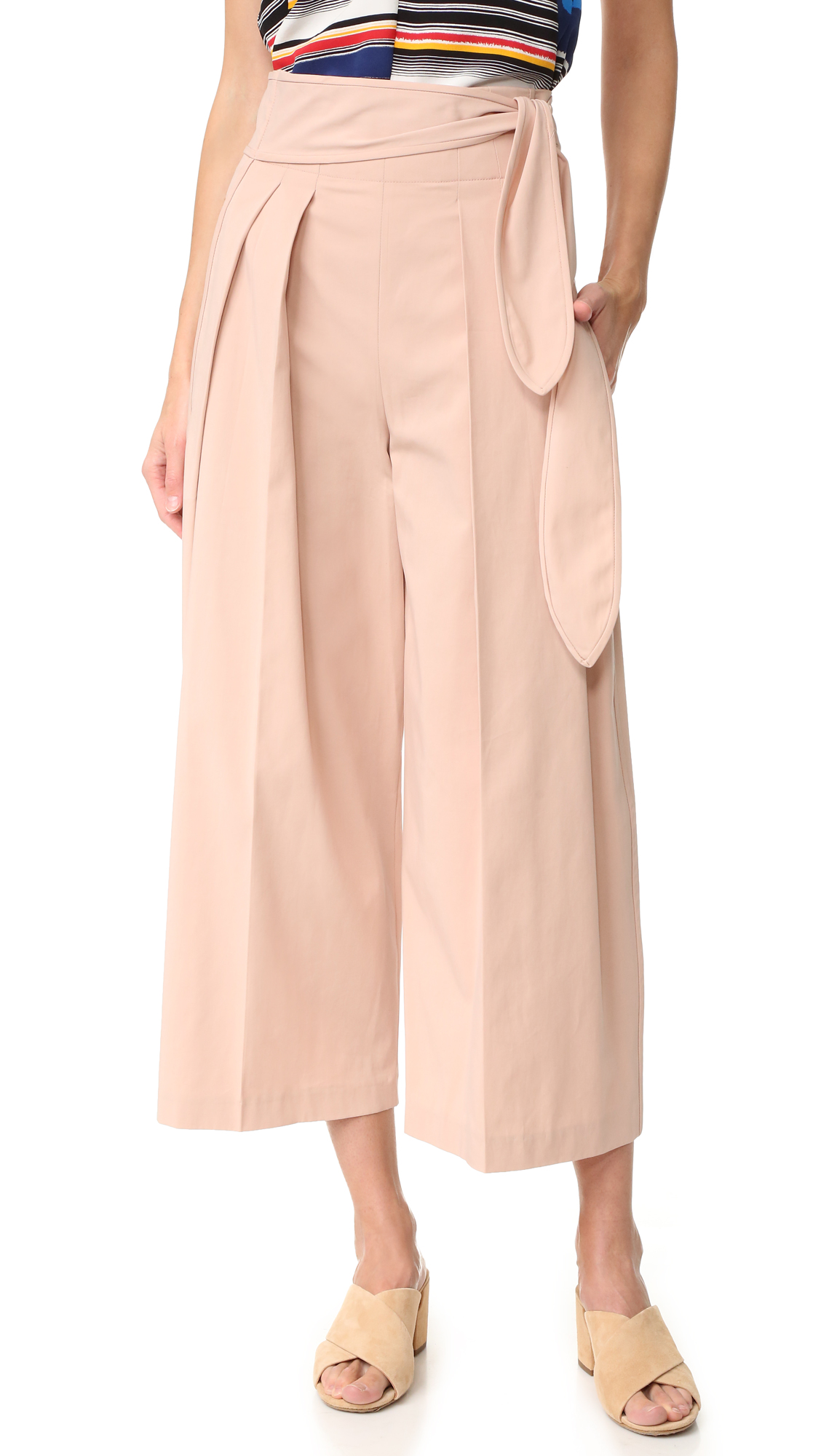 Edun Tie Waist Pants - Shell at Shopbop