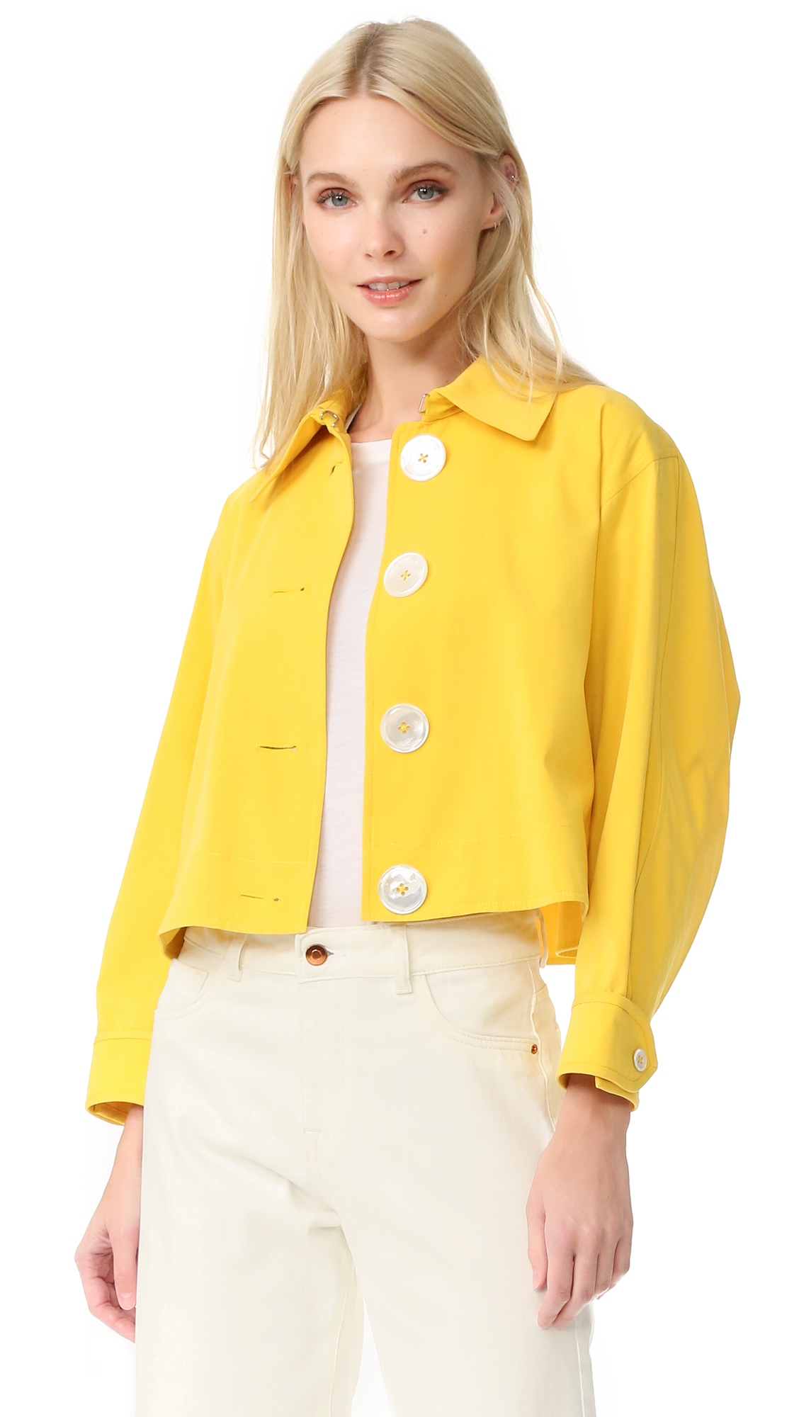 Edun Cropped Trench Jacket - Yellow at Shopbop