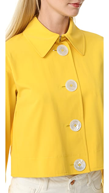 EDUN Cropped Trench Jacket