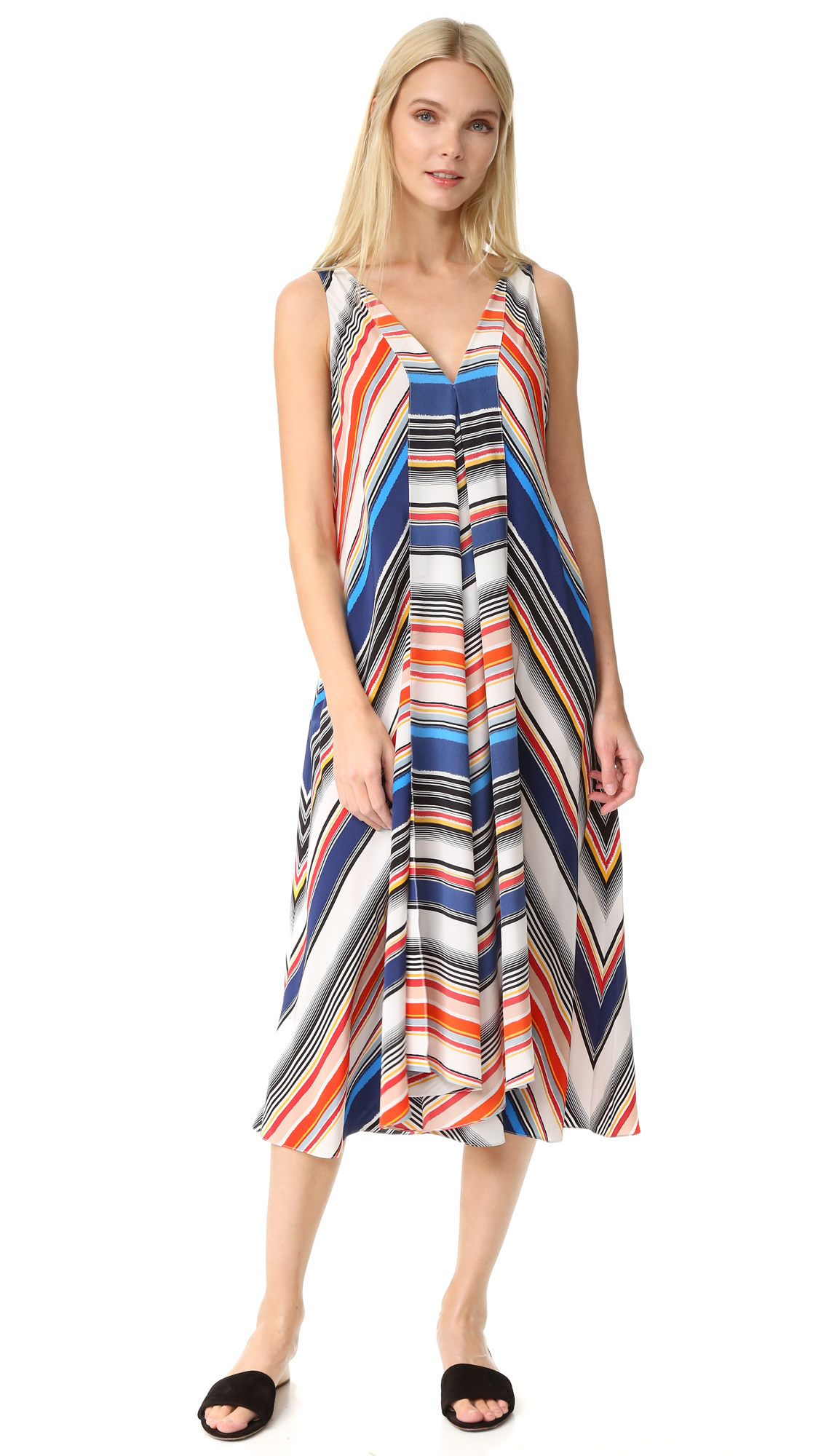 Edun Multi Stripe Hankerchief Dress - Multi Stripe at Shopbop