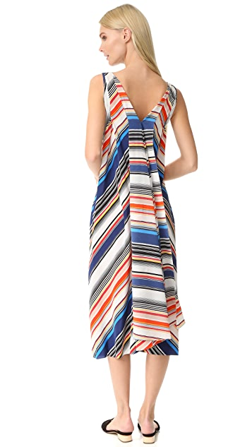 EDUN Multi Stripe Hankerchief Dress