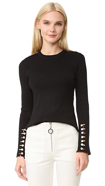 EDUN Long Sleeve Fringe Sweater