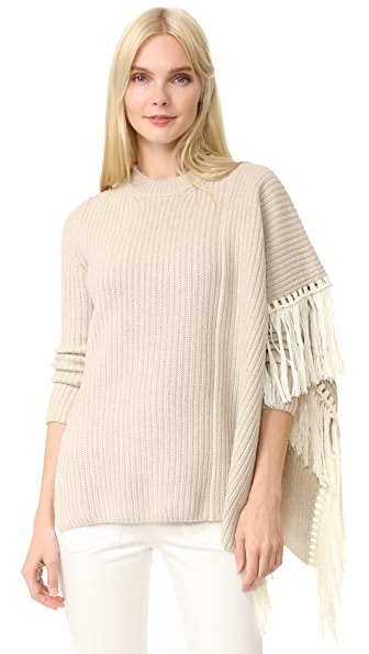 EDUN Fringe Oversized Sweater