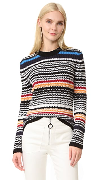 EDUN Multistripe Pullover Sweater