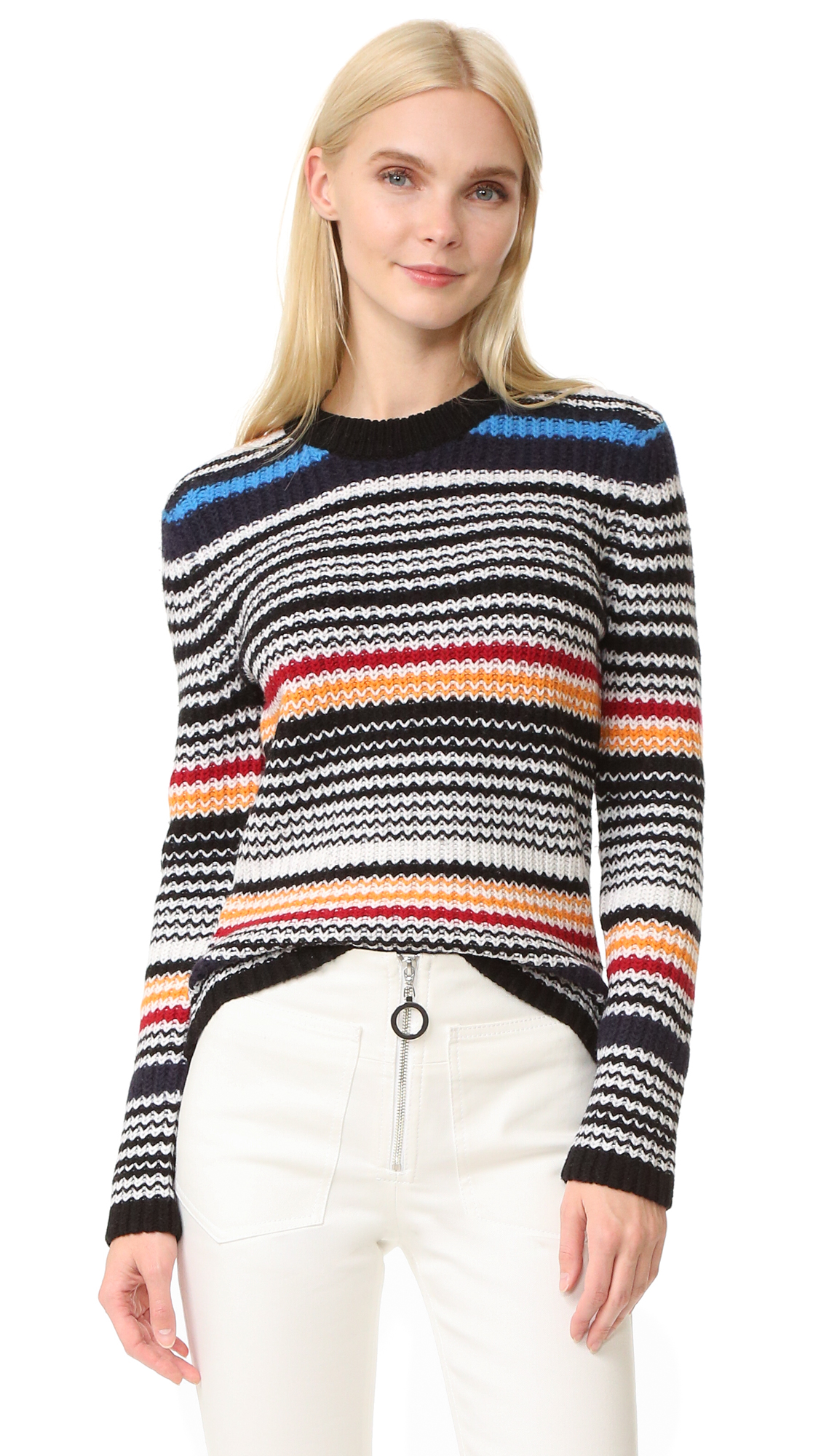 Edun Multistripe Pullover Sweater - Multi Stripe at Shopbop