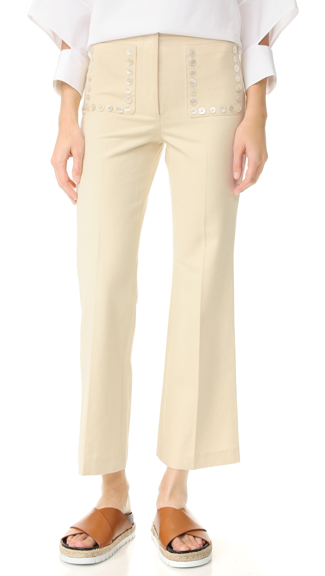 Edun Flare Pants - Ecru at Shopbop
