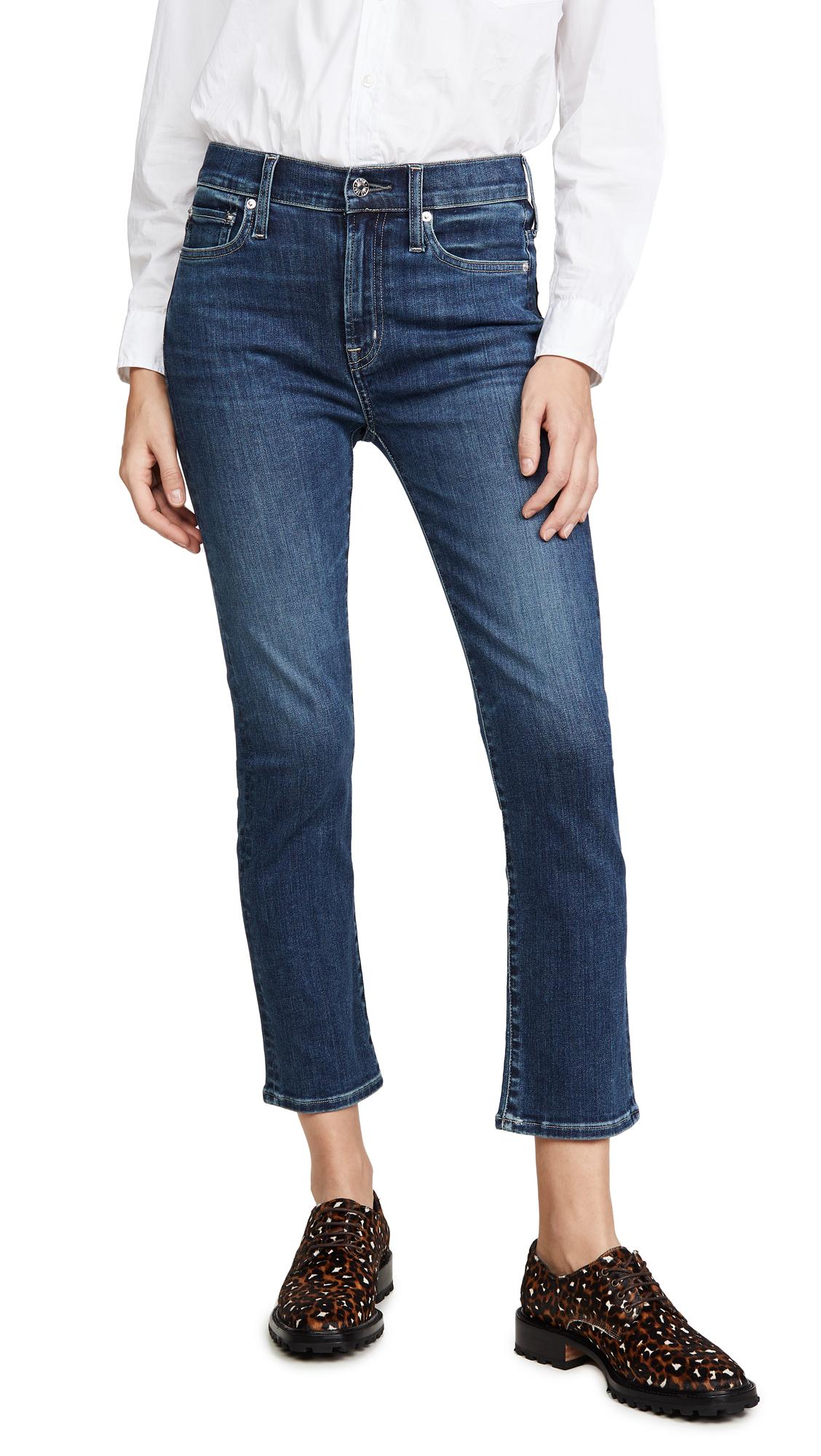 Buy Edwin online - photo of Edwin Elin High Rise Straight Crop Jeans