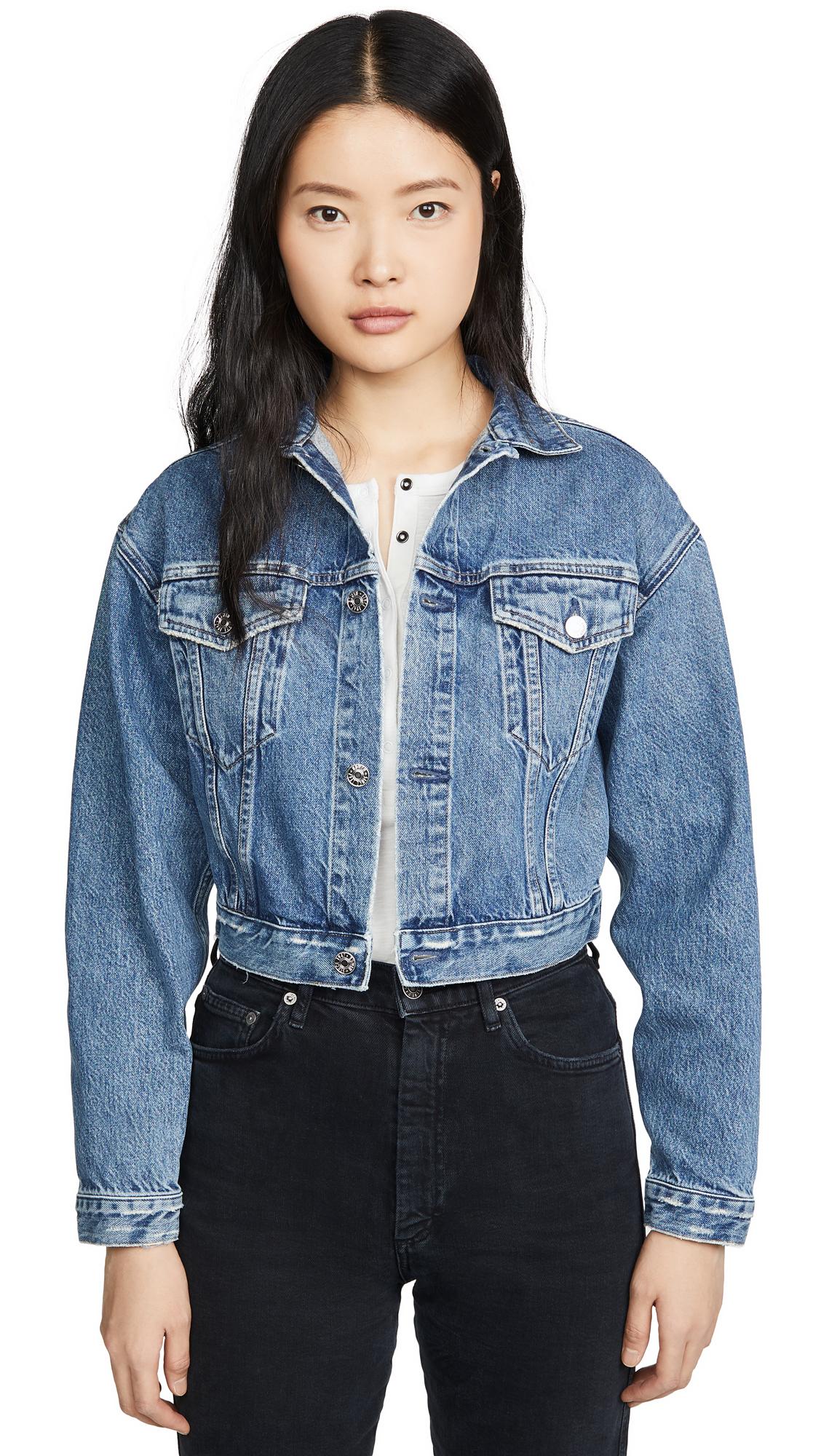 Buy Edwin online - photo of Edwin Sia Cropped Denim Jacket