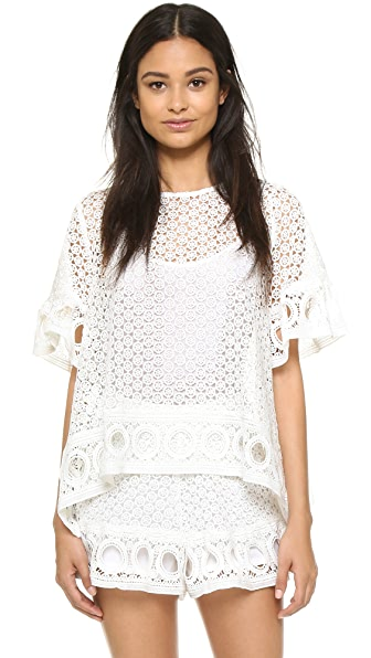 ENGLISH FACTORY Lace Blouse - Off White