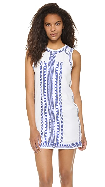 ENGLISH FACTORY Embroidered Mini Dress