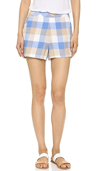ENGLISH FACTORY Check Shorts