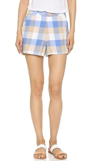 ENGLISH FACTORY Check Shorts