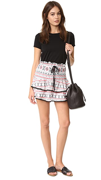 ENGLISH FACTORY Embroidered Miniskirt