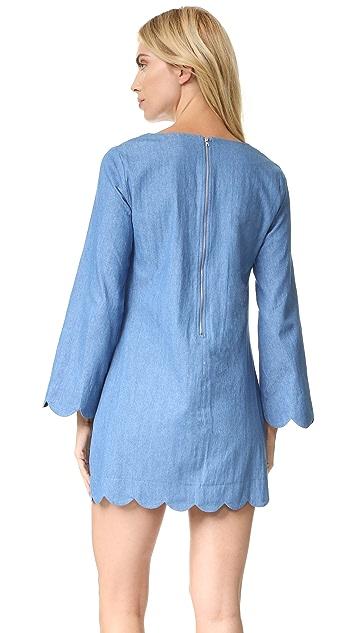 ENGLISH FACTORY Scallop Denim Dress
