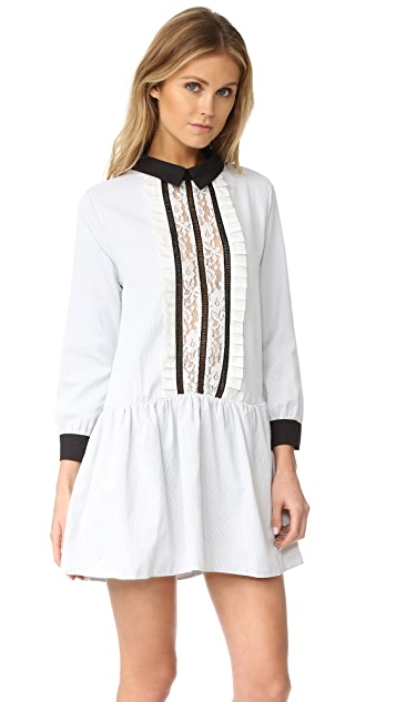 ENGLISH FACTORY Lace Front Shirtdress
