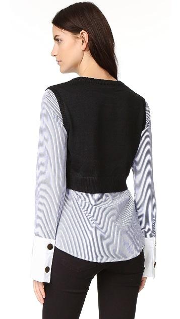 ENGLISH FACTORY Combo Sweater