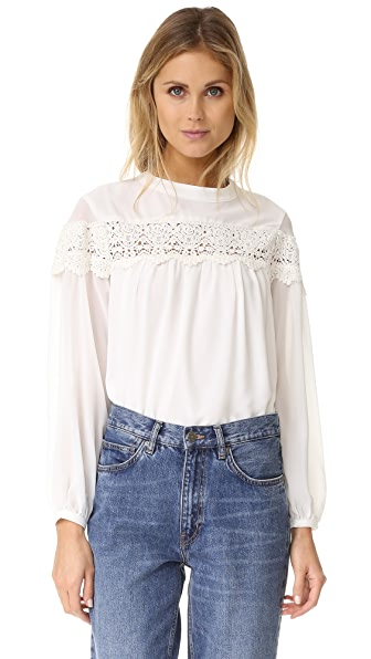ENGLISH FACTORY Boho Blouse - White