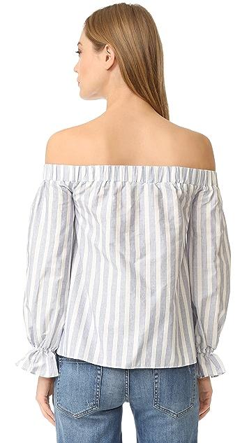 ENGLISH FACTORY Stripe Off Shoulder Top