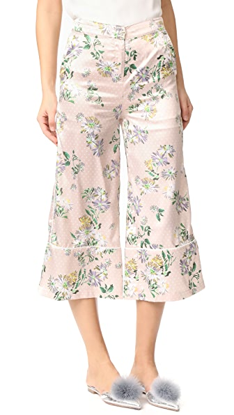 ENGLISH FACTORY Pants with Piping Detail - English Daisy