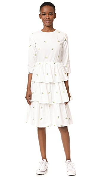 ENGLISH FACTORY Long Ruffle Dress - White